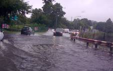 Major roads around Johannesburg have been affected following heavy rain in many parts of Gauteng. Picture: Angelo Tyler/iWitness.
