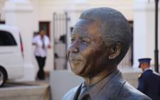 FILE: A bust of the late President Nelson Mandela outside Parliament. Picture: Aletta Harrison/EWN.