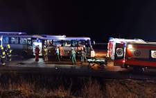 One person was killed following an accident involving a bus crash in southwest Poland on 6 December 2018. Picture: 112 Polkowice/facebook.com