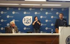 Premier Alan Winde and Western Cape Health HOD Dr. Keith Cloete at a virtual Covid-19 briefing. Image: Facebook