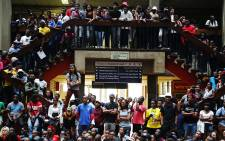 Wits University students staged a sit-in during a third day of protests at the institution over proposed tuition fee increases on 16 October 2015. Picture: Reinart Toerien/EWN.
