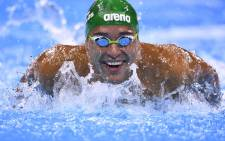 Chad le Clos competes in a Men's 200m Butterfly heat at the Rio 2016 Olympic Games in Rio de Janeiro on 8 August 2016. Picture: AFP.