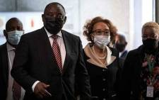 ANC President Cyril Ramaphosa and his wife Tshepo Motsepe arrive at the Zondo commission of inquiry into state capture on 28 April 2021. Picture: Xanderleigh Dookey Makhaza/Eyewitness News