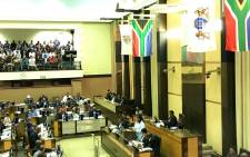 Gauteng Finance MEC Nomantu Nkomo-Ralehoko tables the provincial budget for the 2020/2021 financial year on 5 March 2020. Picture: Picture: @GautengTreasury/Twitter.