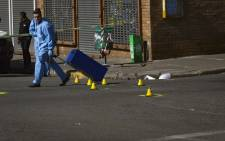 Four people have been killed and several others injured in Brakpan CBD, following a shooting incident on 23 May 2018. Picture: Sethembiso Zulu/EWN