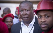 EFF leader Julius Malema outside Parliament following President Jacob Zuma's question and answer session on 6 August 2015. Picture: Thomas Holder/EWN