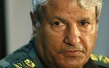 The head of Libyan rebel forces Abdel Fattah Younes during a press conference in eastern Libya, on April 05, 2011. Picture: AFP