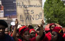 FILE: Students from Wits and UJ march to the City of Joburg's chambers calling for residence prices to be capped. Picture: Kayleen Morgan/EWN