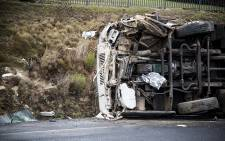 FILE: A bus carrying school children overturned on the R44 outside Welgevonden farm on 26 May 2015. Picture: Thomas Holder/EWN.