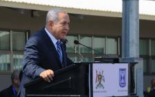 Israeli Prime Minister Benjamin Netanyahu speaks during an event to mark the 40th anniversary of the 1976 hostage rescue in Entebbe on 4 July, 2016. Picture: AFP.