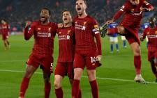 Liverpool players celebrate a goal during their English Premier League match at Anfield in Liverpool, England on 26 December 2019. Picture: @LFC/Twitter