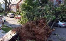 Storms in the United States leave two people dead and more than 100,000 homes on 67 July, 2012. Picture: Supplied