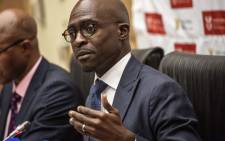 FILE: Finance Minister Malusi Gigaba at a briefing. Picture: AFP
