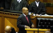 FILE: President Jacob Zuma delivers his 2017 State of the Nation Address in Parliament. Picture: AFP.