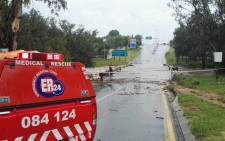 FILE: Flash floods in Johannesburg. Picture: @ER24EMS/Twitter