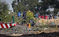 Emergency services continue rescue operations at a disused mine near Boksburg to find five-year-old Richard Thole who fell into the mine on 25 February 2017.
