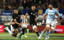 All Blacks pulled away with two late tries in a Rugby Championship triumph against Argentina at Trafalgar Park in Nelson. Picture: @AllBlacks/Twitter.