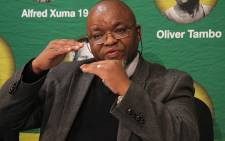 ANC Secretary General Gwede Mantashe addressing a media conference at Luthuli House on 12 June, 2011. Picture: Taurai Maduna/EWN