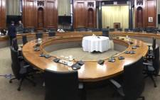 The room at the Union Buildings in Pretoria where the interviews for the next NDPP are taking place. Picture: EWN
