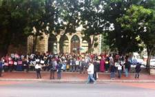 Cape Town residents hold a vigil for the missing Nigerian school girls outside St George's Cathedral on 16 May 2014. Picture: Graeme Raubenheimer/EWN.