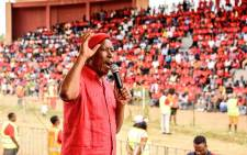 EFF leader Julius Malema addresses a Freedom Day rally in Seshego outside Polokwane. Picture: EFF.