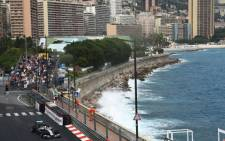 Mercedes' British driver Lewis Hamilton drives at the Monaco street circuit during the second practice session of the Monaco Formula One Grand Prix in Monte Carlo on May 22, 2014. Picture: AFP.