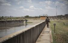 Member of the SANDF during the media briefing at one of the purification plan on 24 November 2018.Picture: Sethembiso Zulu /EWN.