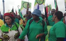 An estimated 80,000 Amcu members downed tools in the platinum sector in January and are demanding a basic salary of R12,500 per month. Picture: Mia Lindeque/EWN.