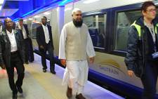Gauteng Tranport MEC Ismael Vadi at the Gautrain station in Park Station, Johanneburg. Picture: Gia Nicolaides/Eyewitness News