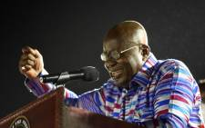 President and candidate of the ruling New Patriotic Party (NPP) Nana Akufo-Addo addresses supporters during the final day of campaigning at James Town in Accra, on 5 December 2020. Picture: AFP