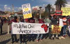 FILE: The march against xenophobia attacks ended at the Mary Fitzgerald Square on 23 April 2015, with many people holding signs that call for peace and an end to the attacks. Picture: EWN.