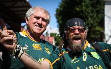 Springbok fans celebrate the beginning of the RWC 2015. Picture: Anthony Molyneaux/EWN