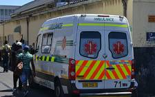 An ambulance outside the Maitland Refugee Reception Centre in Cape Town after Zimbabwean man was allegedly assaulted by security guards on 26 January 2012. Picture: Aletta Gardner/EWN