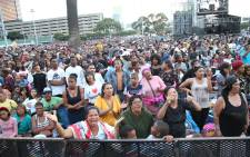 FILE: Thousands gather on the Parade in Cape Town on 2 December 2018 as they wait for the festive lights to be switched on. Picture: Bertram Malgas/EWN.