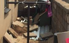 A woman's body has been found in the backyard of a sowto house, and there is suspicion that it could be missing UJ student Palesa Madiba. Picture: Vumani Mkhize/EWN.