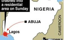 Nigeria Plane Crash graphic. Picture: AFP/SAPA.