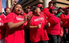 Workers and union members affiliated with Cosatu participate in an anti-state capture march in Johannesburg on 27 September 2017. Picture: Christa Eybers/EWN