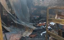 The Soshanguve High School in Pretoria following a fire in the administration block. Picture: @Lesufi/Twitter