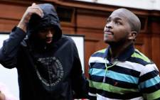 Xolile Mngeni (L) and Mziwamadoda Qwabe, accused in the murder of honeymooner Anni Dewani, appear in the Western Cape High Court in Cape Town. Picture: Nardus Engelbrecht/SAPA