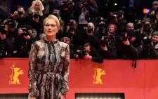 "US actress and jury president Meryl Streep poses for photographers as she arrives on the red carpet for the film ""Hail, Caesar!"" screening as opening film of the 66th Berlinale Film Festival in Berlin on 11 February 2016. Picture: John Macdougall/AFP."