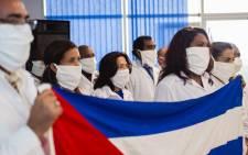 FILE: A delegation of Cuban doctors. Picture: AFP