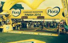 Bongumusa Mthembu wins the Comrades Marathon on 1 June 2014. Picture: @Jateen904/Twitter