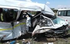 Three killed in head-on crash on the N1 South near Mantsole, Limpopo, on 17 December 2018. Picture:@_ArriveAlive/Twitter.
