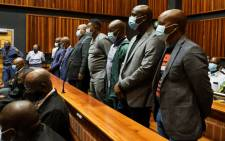 FILE: ANC treasurer in Limpopo Danny Msiza, businessman and former ANC Youth League member Kabelo Matsepe and five others appeared in the Palm Ridge Magistrates Court on 12 March 2021 for their alleged role in the looting of VBS funds. Picture: Boikhutso Ntsoko/Eyewitness News.