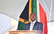 Deputy President David Mabuza launched a mass mobilisation campaign at FNB Stadium in Johannesburg on 8 September 2021. Picture: @PresidencyZA/Twitter..