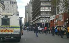 School pupils from Ekurhuleni, Pretoria and Johannesburg march in Johannesburg CBD on 15 March 2016. Picture: Intelligence Bureau SA via Facebook.