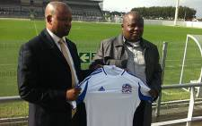 Chippa Mpengesi unveiled Manqoba Mngqithi as the new Chippa United coach on 9 July. Picture: Rafiq Wagiet/EWN