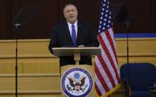 US Secretary of State Mike Pompeo speaks at the United Nations Economic Commission for Africa in Addis Ababa on 19 February 2020. Picture: AFP