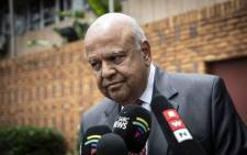 Public Enterprises Minister Pravin Gordhan arrives at the Brooklyn Police Station in Pretoria on 26 November 2018 to lay criminal complaints against EFF leader Julius Malema. Picture: Abigail Javier/EWN