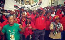 Saftu members march in Cape Town on 12 April 2018 in protest against labour laws. Picture: @SAFTU_media/Twitter